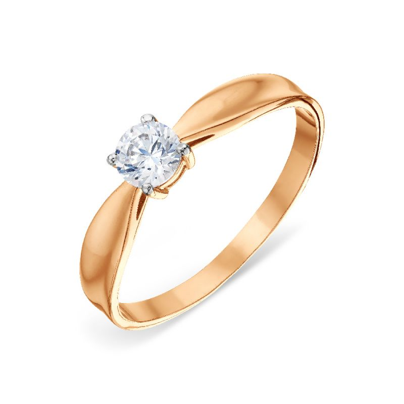 Damen Ring mit Swarovski Elements 585er Rotgold
